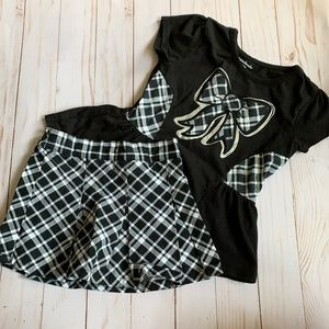 Toddler Skort and top outfit.  size 2t/3t